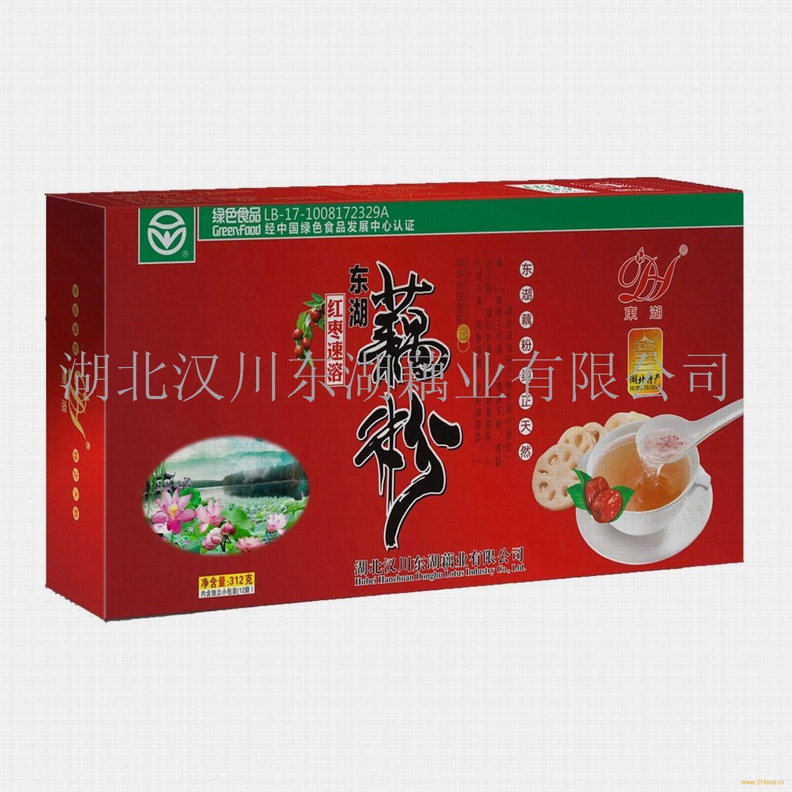 湖北特产盒装红枣藕粉