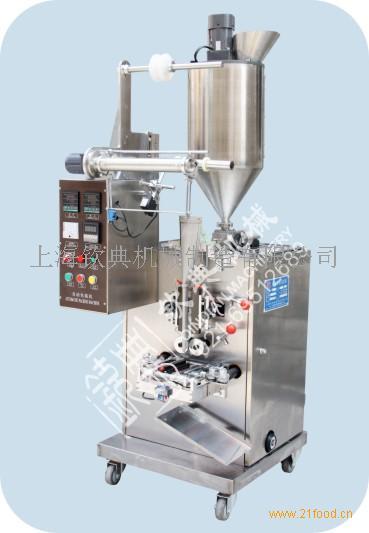 柱塞泵式酱料包装机 芝麻酱 甜酱三边封立式包装机