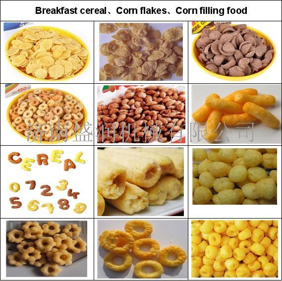 供应早餐谷物生产线,玉米片生产线