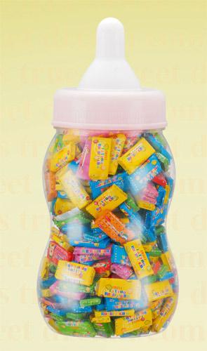 大奶瓶装纸包纹身泡泡糖