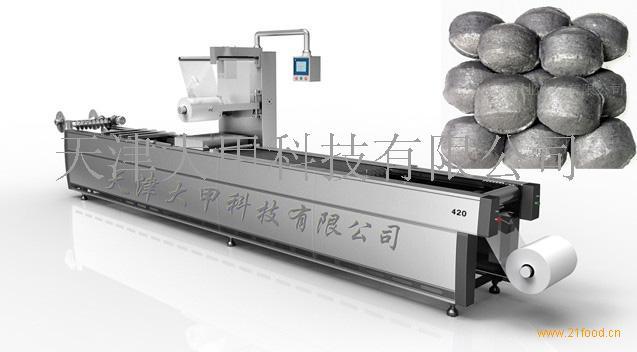 煤球dj420连续式拉伸膜真空包装机