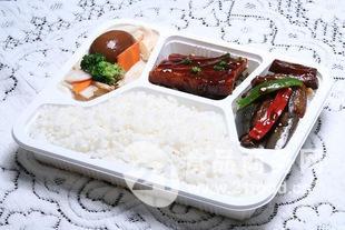 帝幸包装白色四格快餐盒 环保餐盒
