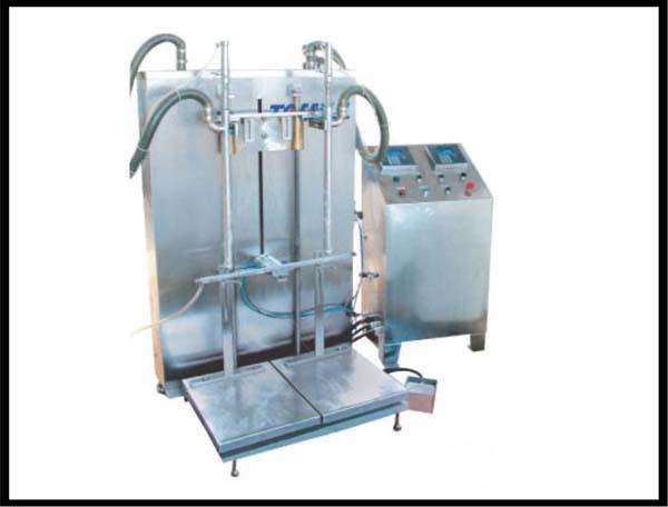 液体称重灌装机  针对10kg以上双头灌装