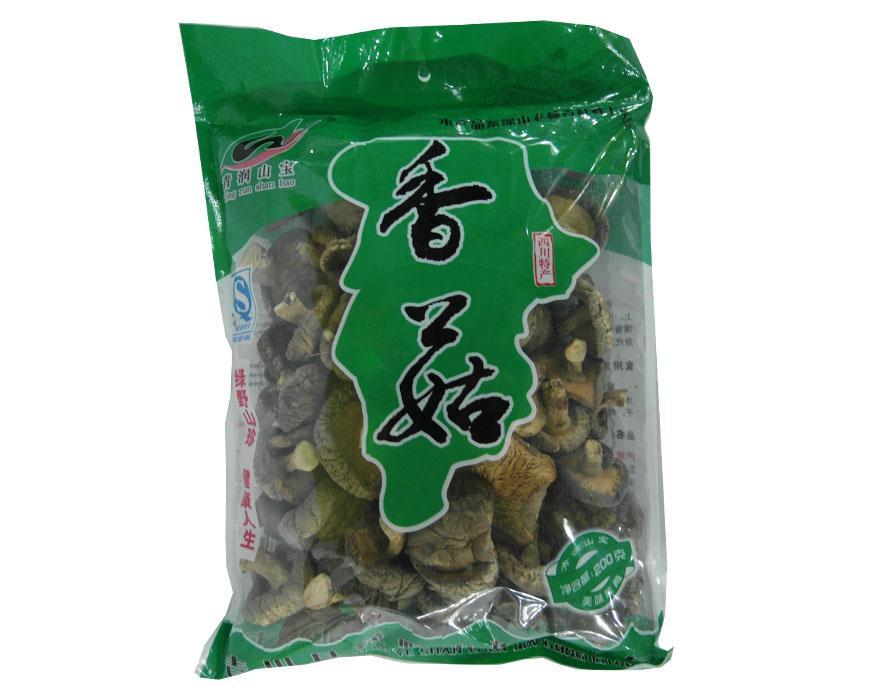 四川特产广元清润山宝香菇袋装200g