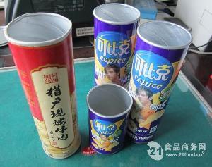 可比克薯片纸罐加盖封口机