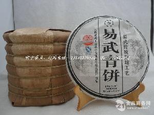 2013年400克头春易武青饼 普洱茶