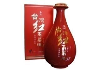 玉山台湾高粱酒红瓷瓶