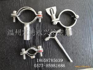 不锈钢管支架、不锈钢管夹、不锈钢管托、六角型管