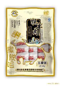 """红原御坊斋""""撇脱咀""""牌88g休闲味牦牛肉(五香味)"""