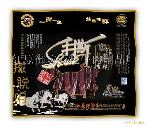 """红原御坊斋""""撇脱咀""""牌88g长条手撕牦牛肉(香辣味)"""