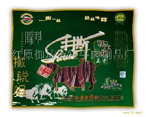 """红原御坊斋""""撇脱咀""""牌88g长条手撕牦牛肉(五香味)"""