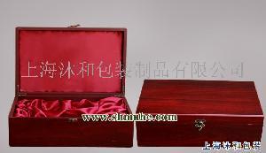 双支仿红木纸板红酒酒盒