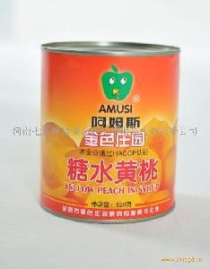 阿姆斯黄桃条罐头3000g