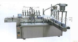 供应全自动柱塞式液体灌装旋盖一体机
