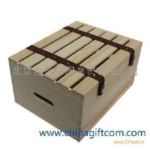 松木六只装红酒包装盒