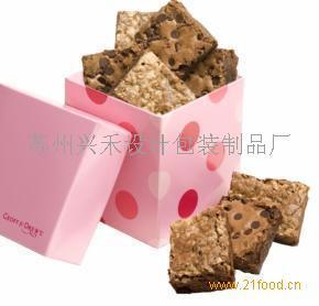 粉色手工饼干盒