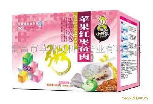 小阿哥苹果红枣鱼肉五谷杂粮粥