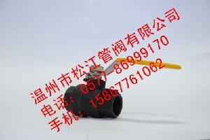 WCB铸钢二片式球阀