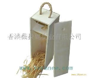 单只松木酒盒