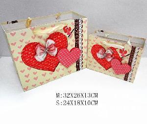 韩式爱心两件套食品礼品袋