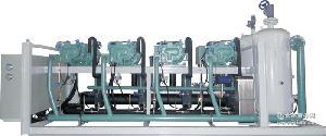 超低温螺杆压缩冷凝低噪音制冷机组